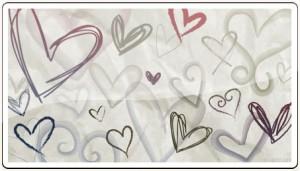 手書き風 ハート素材3