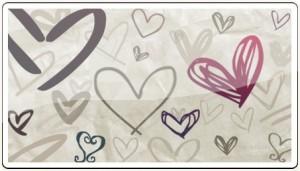 手描き風ハート 無料素材6