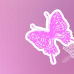 写真に蝶のイラストで女子っぽいアクセント Photshop無料 ブラシ 15選