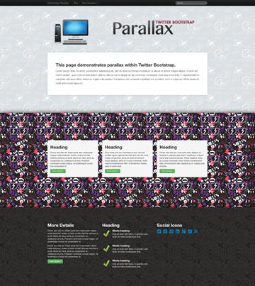 Bootstrap-Parallax -WordPressパララックス テンプレート