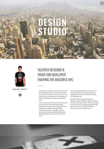 NYC -WordPressパララックステンプレート