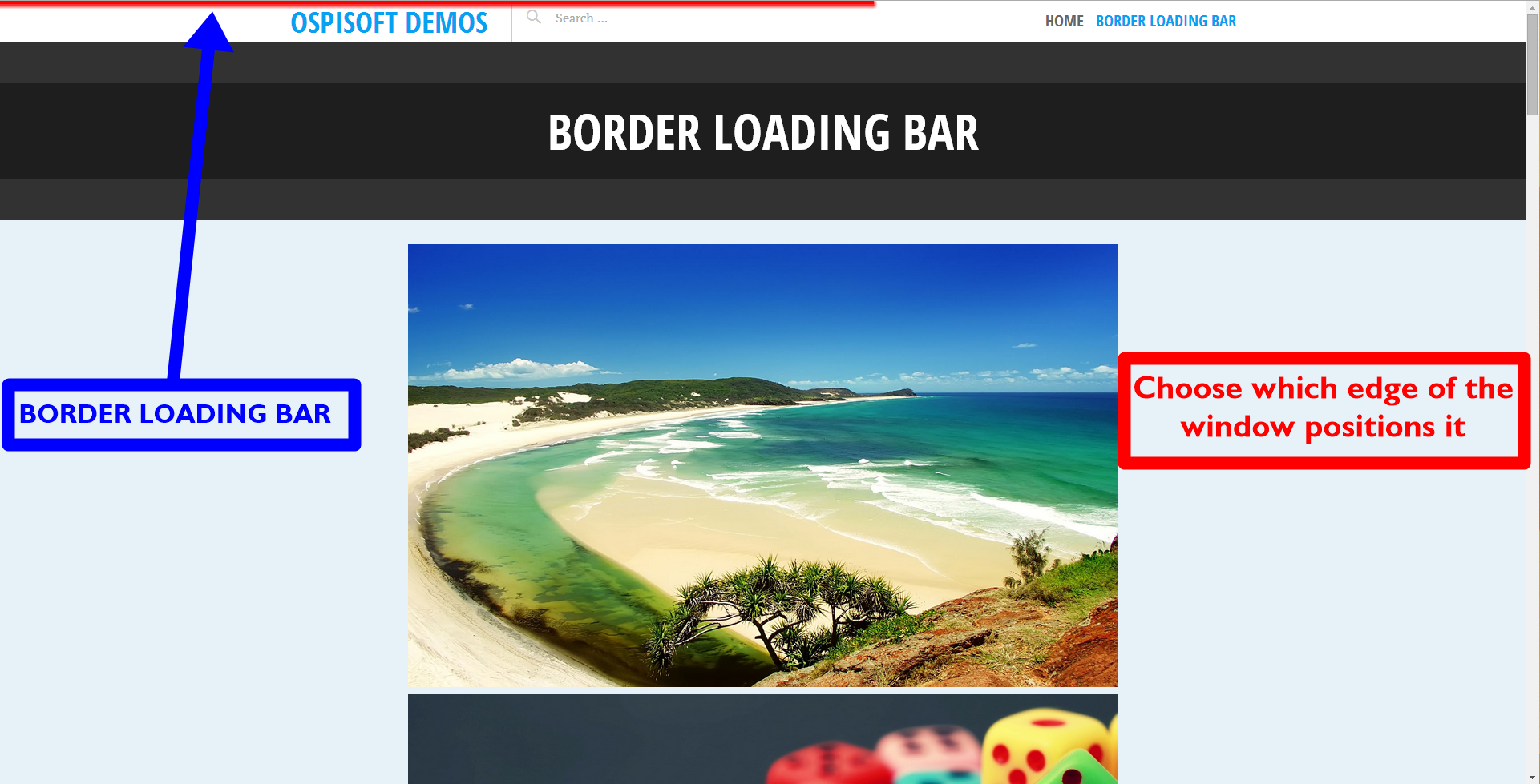 Border Loading Bar