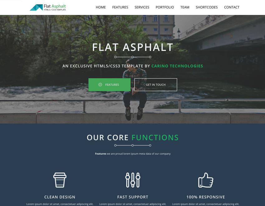 resiponsive template flat-asphalt