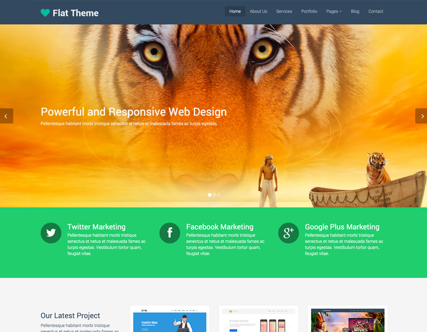 responsive template flat-theme