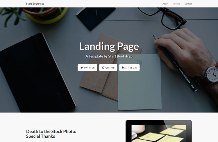 resiponsive template landing-page