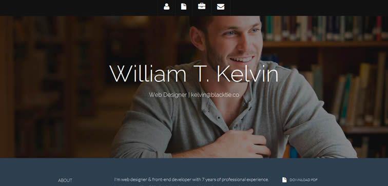 resiponsive template Kelvin – Resume Theme