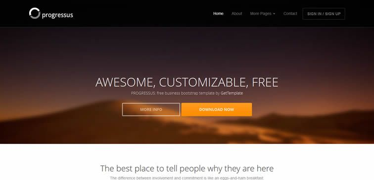 resiponsive template Progressus – An elegant agency