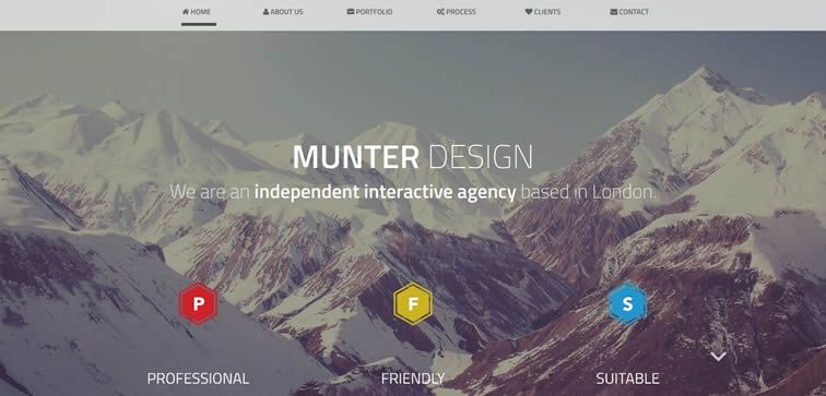 resiponsive template MUNTER DESIGN