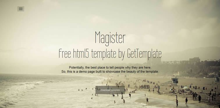 resiponsive template Magister