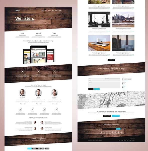 responsive template timber