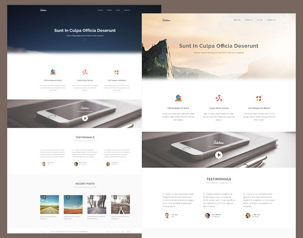 responsive template sublime