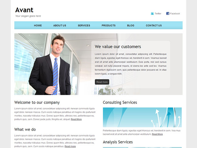 Avant – Free Bootstrap Corporate Site Template