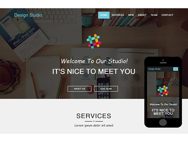 Design Studio Responsive Service Bootsrap Template