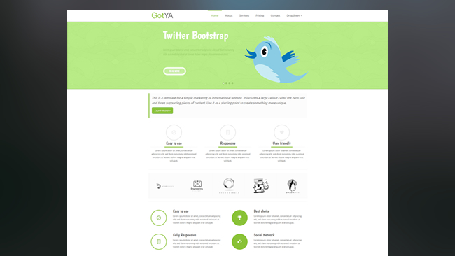GotYA Free Bootstrap Theme