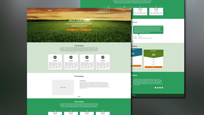 WELCOME - Landing Page Template