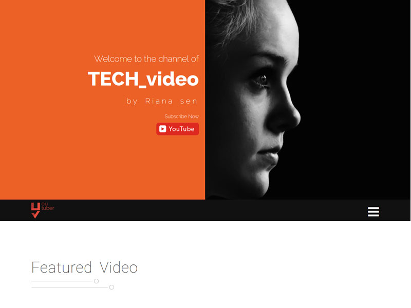 Youtuber Bootstrap Youtube Marketer Free Template