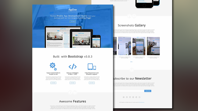 App Zone - free bootstrap template