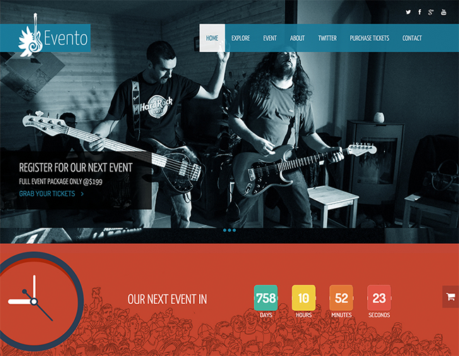 Evento - Free Music Event Template