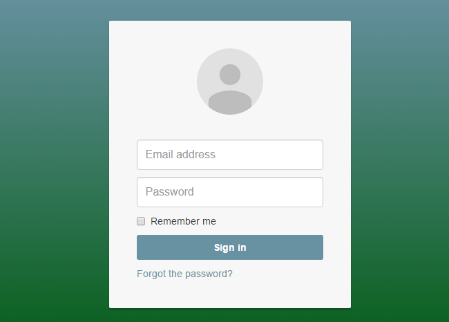 Google style login extended