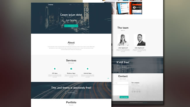 The Landing Page Flat Bootstrap Responsive Web Template