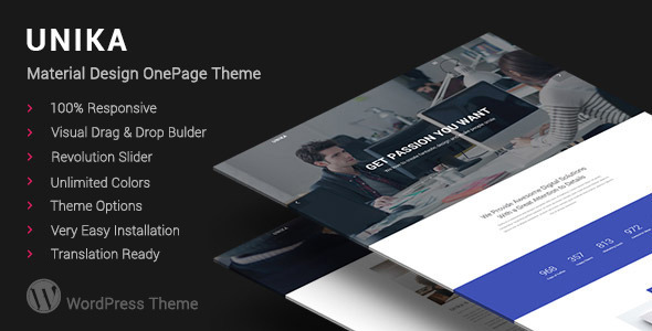 Unika | Responsive Material Design WordPress Theme