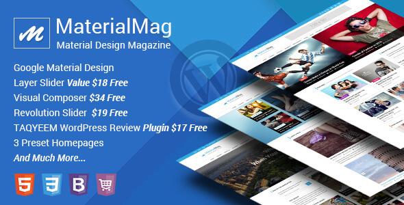 MaterialMag - Material Design Magazine WP Theme