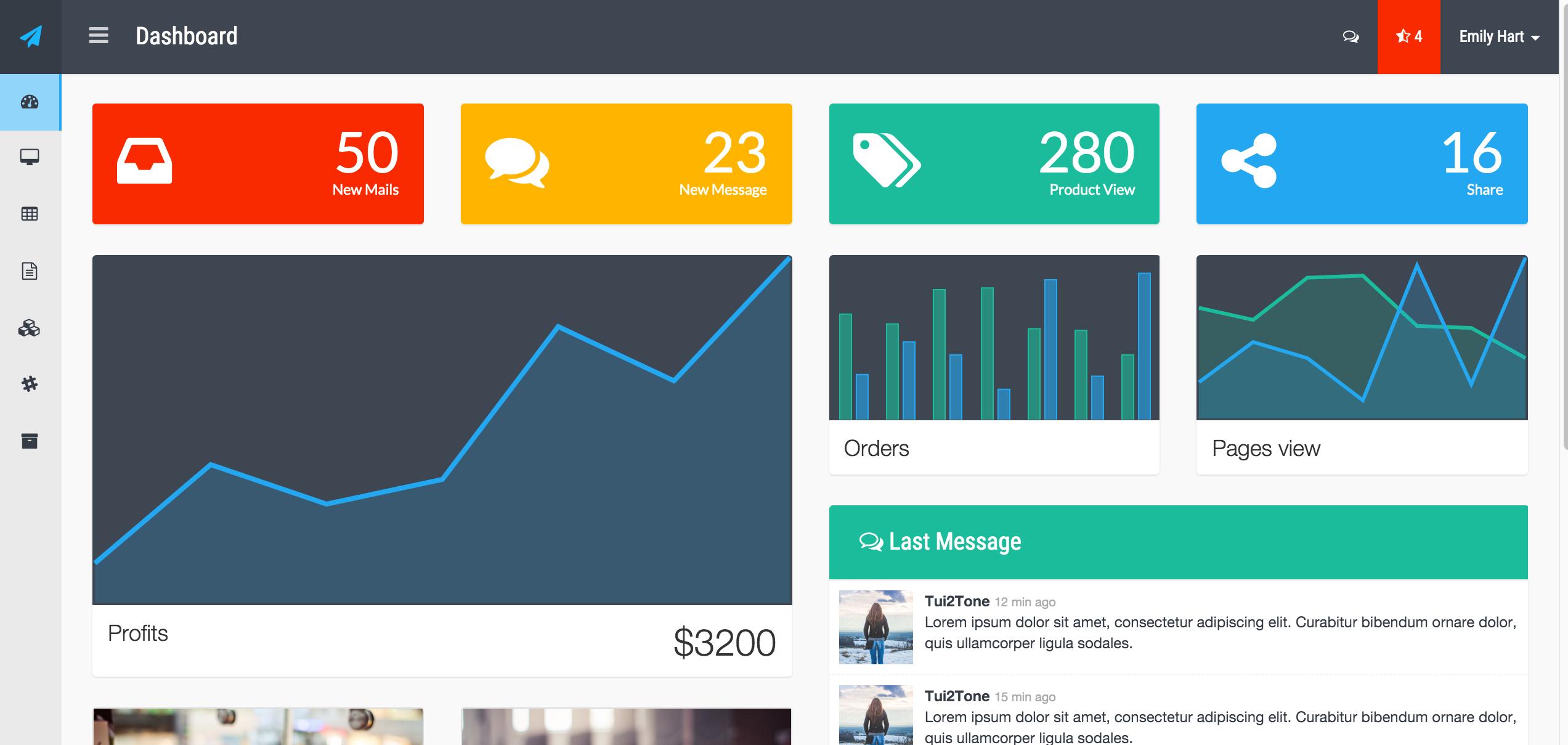 Flat Admin V.2 Bootstrap Templates