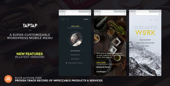 TapTap: A Super Customizable WordPress Mobile Menu