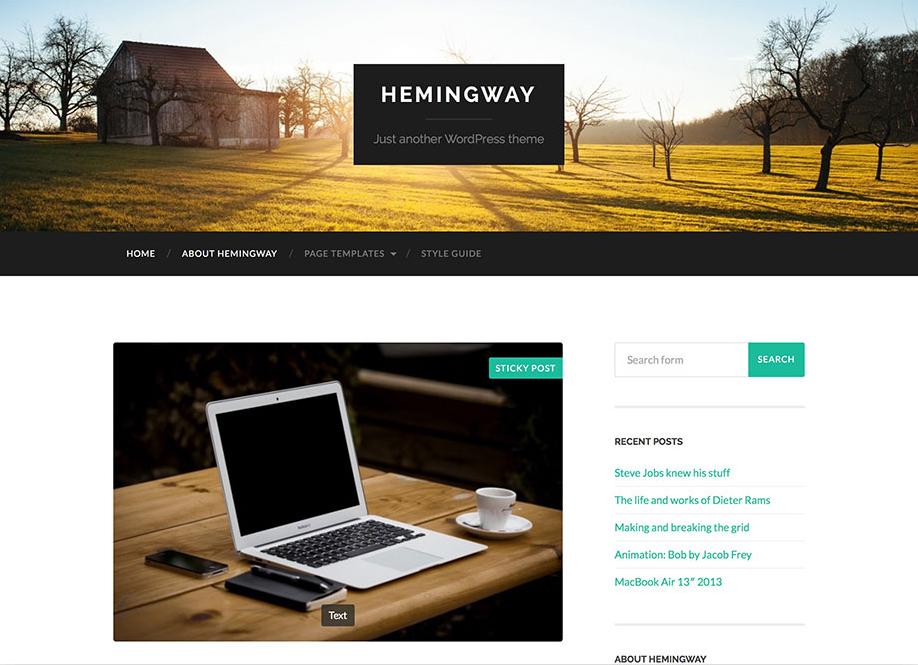 hemingway-parallax-blog-theme